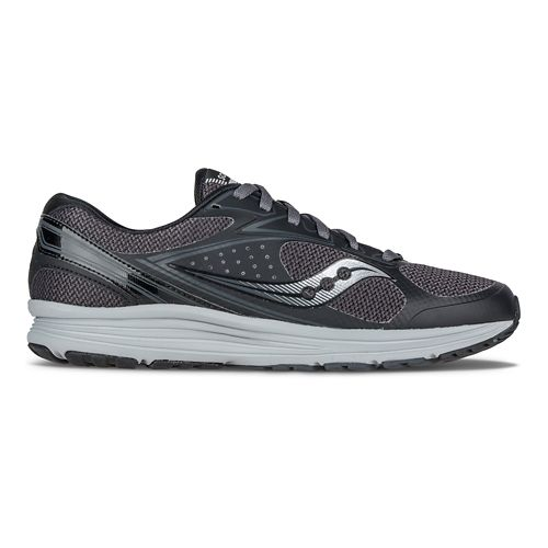 Mens Saucony Seeker Running Shoe - Black/Grey 11.5