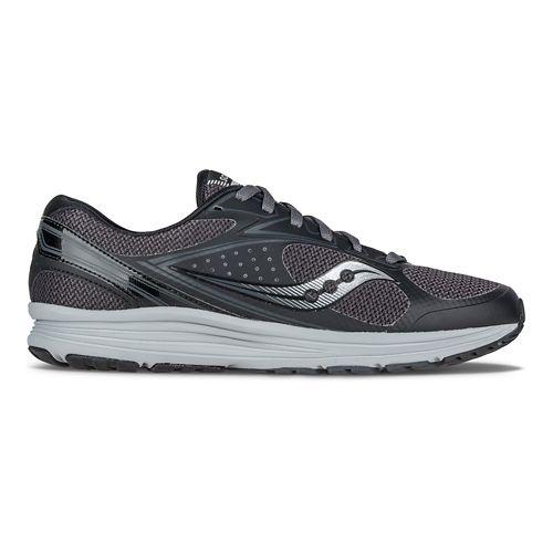Mens Saucony Seeker Running Shoe - Black/Grey 8.5