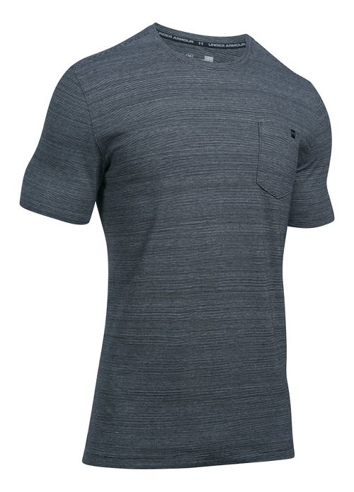 Mens Under Armour Charged Cotton Pocket Tee Short Sleeve Technical Tops - Black XXL