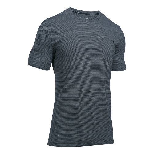 Mens Under Armour Charged Cotton Pocket Tee Short Sleeve Technical Tops - Black XL