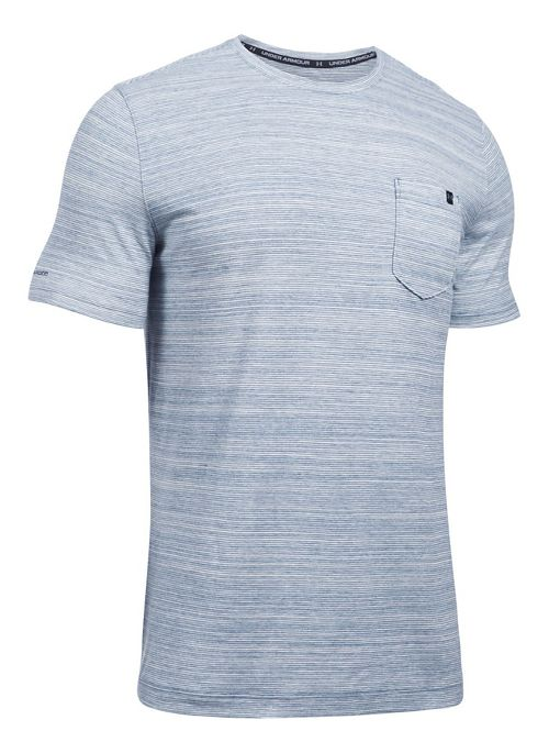 Mens Under Armour Charged Cotton Pocket Tee Short Sleeve Technical Tops - Blackout Navy XL