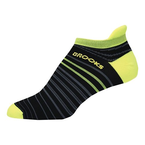 Brooks Launch Lightweight Tab Socks - Black/Nightlife M