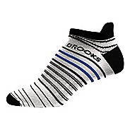 Brooks Launch Lightweight Tab Socks - White/Black S