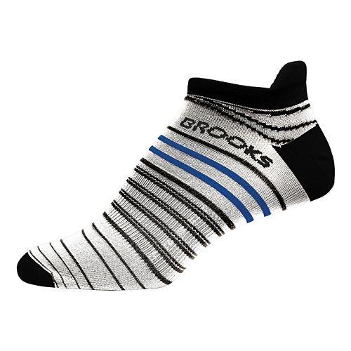 Brooks Launch Lightweight Tab Socks - White/Black M