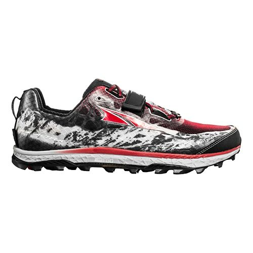 Mens Altra King MT Trail Running Shoe - Black/Red 11.5