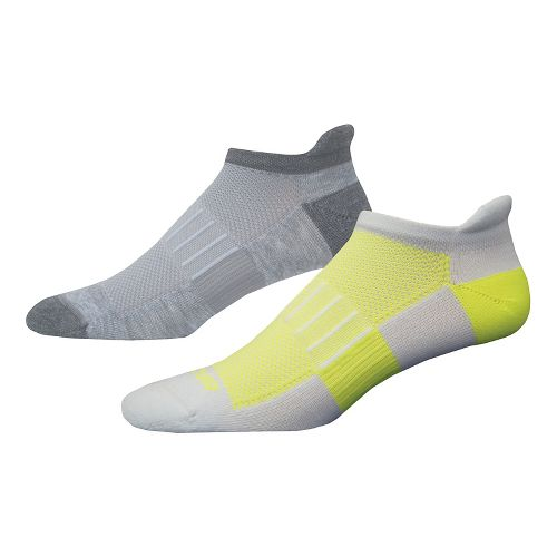 Brooks Ghost Midweight 2 pack Socks - Ox/Asp-White/Nightlife M