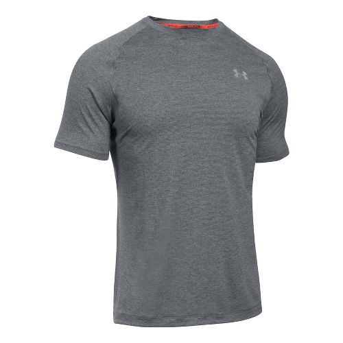 Mens Under Armour Transport Short Sleeve Technical Tops - Graphite M