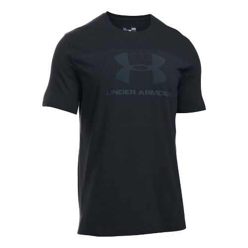 Mens Under Armour KO Sportstyle Logo Short Sleeve Technical Tops - Black L