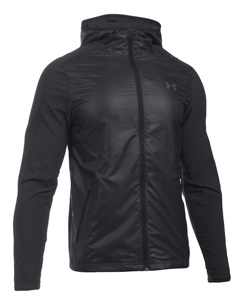 Mens Under Armour Supervent Fullzip Half-Zips & Hoodies Technical Tops - Black L