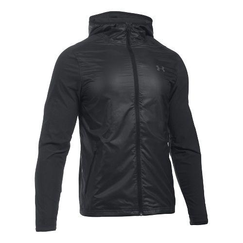 Mens Under Armour Supervent Fullzip Half-Zips & Hoodies Technical Tops - Black L