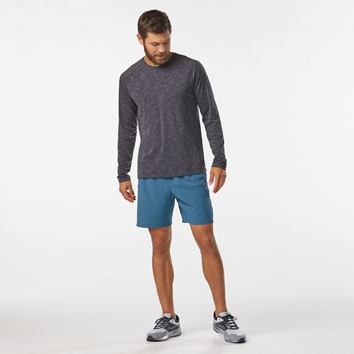 Mens R-Gear Training Day Long Sleeve Technical Tops - Charcoal M