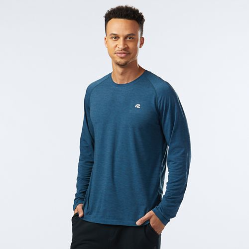 Mens R-Gear Training Day Long Sleeve Technical Tops - Ink Jet L