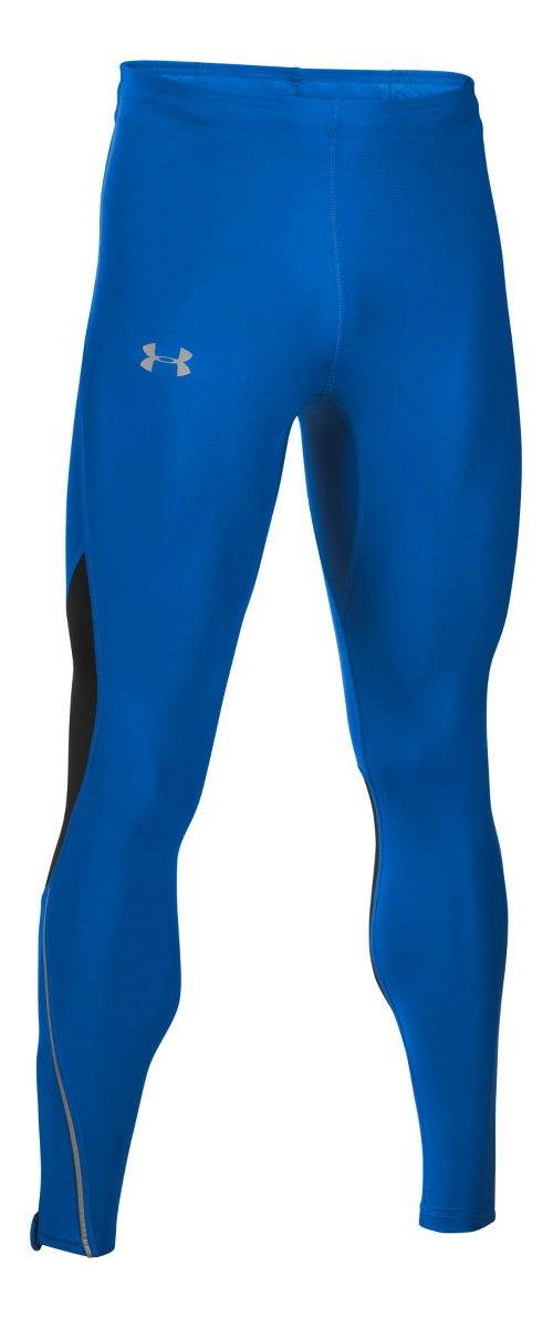 Mens Under Armour CoolSwitch Run V2 Tights & Leggings Pants - Blue Marker S