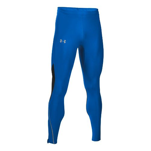 Mens Under Armour CoolSwitch Run V2 Tights & Leggings Pants - Blue Marker M