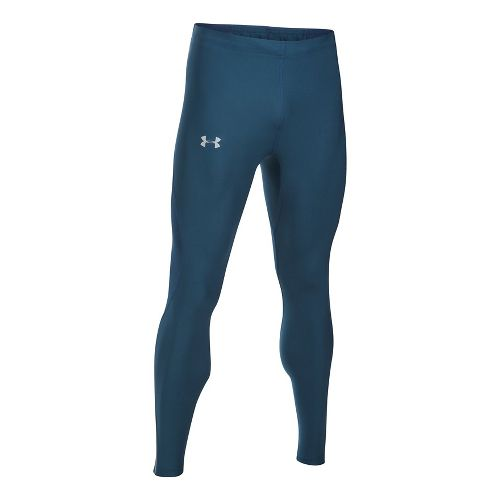 Mens Under Armour CoolSwitch Run V2 Tights & Leggings Pants - True Ink/Navy L