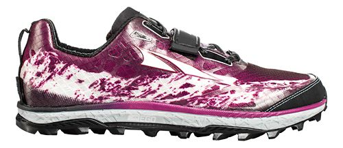 Womens Altra King MT Trail Running Shoe - Grey/Magenta 7.5