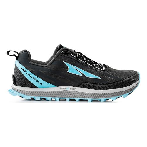 Womens Altra Superior 3.0 Trail Running Shoe - Charcoal/Blue 5.5