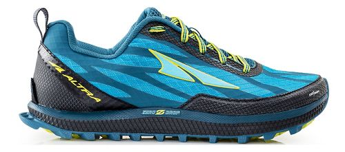 Womens Altra Superior 3.0 Trail Running Shoe - Blue/Lime 5.5