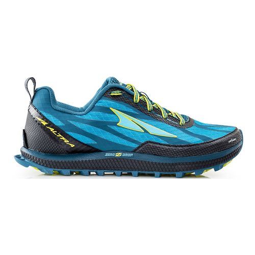 Womens Altra Superior 3.0 Trail Running Shoe - Blue/Lime 8.5