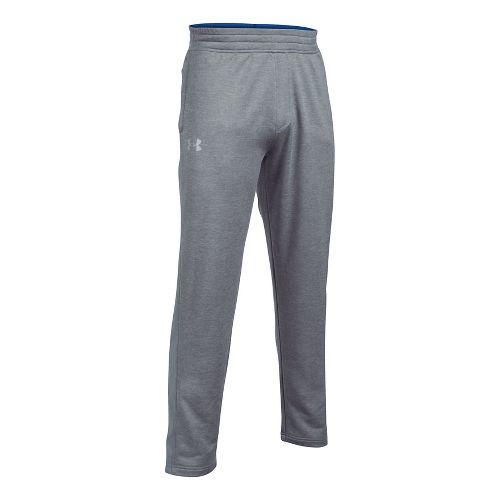 Mens Under Armour Tech Terry Pants - True Grey Heather S-T