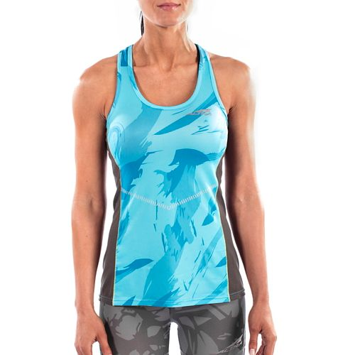 Womens Altra Running Sleeveless & Tank Tops Technical Tops - Blue L