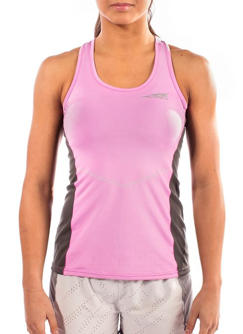 Womens Altra Running Sleeveless & Tank Tops Technical Tops - Orchid XS