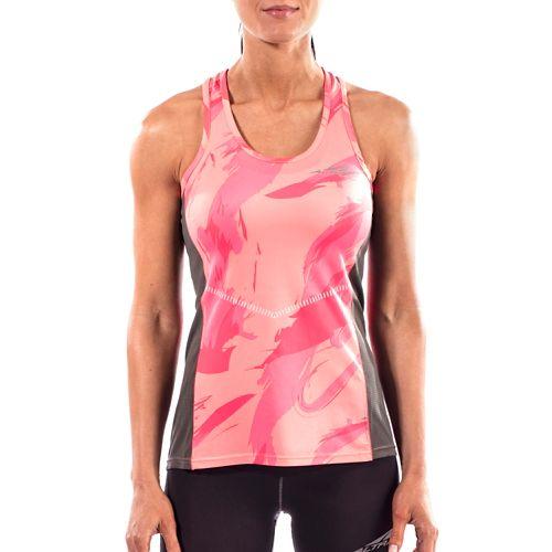 Womens Altra Running Sleeveless & Tank Tops Technical Tops - Pink L