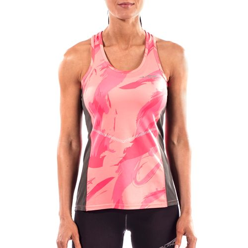Womens Altra Running Sleeveless & Tank Tops Technical Tops - Pink S