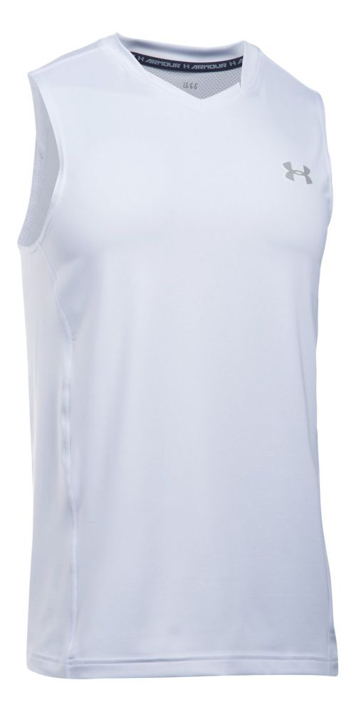 Mens Under Armour Supervent Tank  Technical Tops - White XL