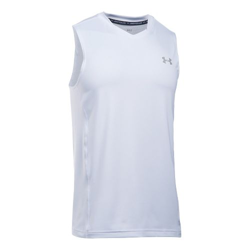 Mens Under Armour Supervent Tank  Technical Tops - White 3XL