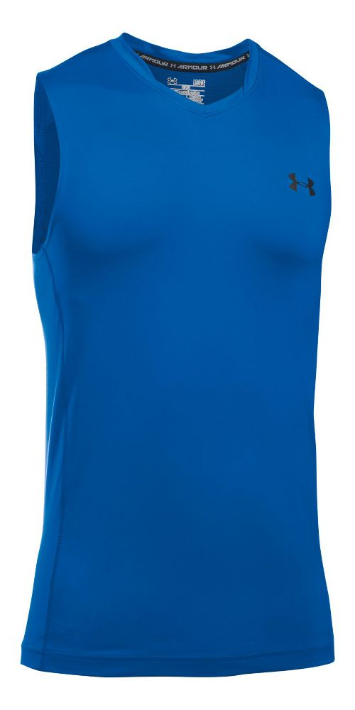 Mens Under Armour Supervent Tank  Technical Tops - Blue Marker S