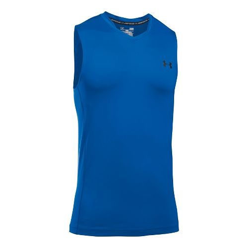 Mens Under Armour Supervent Tank  Technical Tops - Blue Marker XL