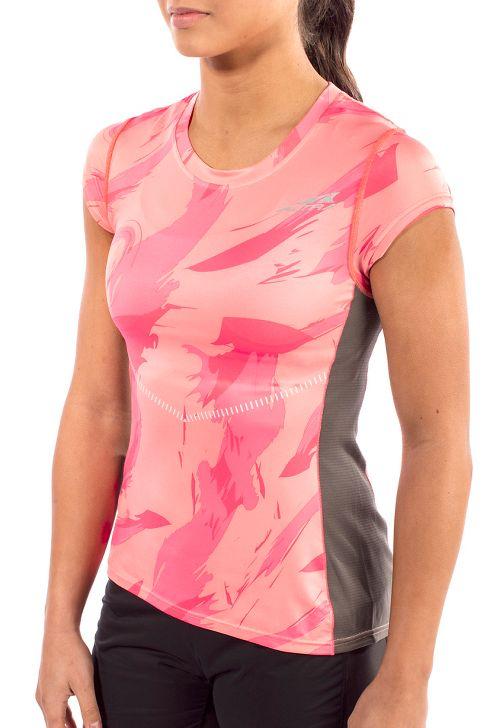 Womens Altra Running Tee Short Sleeve Technical Tops - Pink XS
