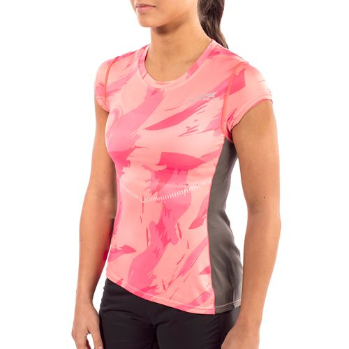Womens Altra Running Tee Short Sleeve Technical Tops - Pink S
