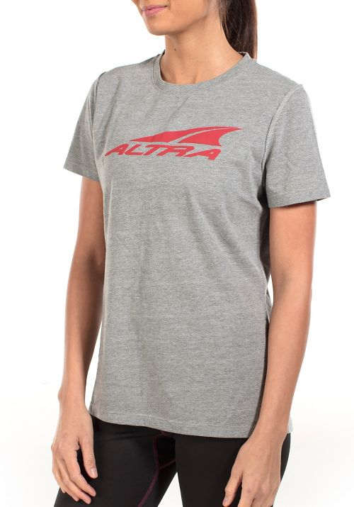 Womens Altra Core Tee Short Sleeve Technical Tops - Grey S