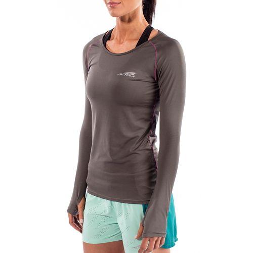 Womens Altra Running Long Sleeve Technical Tops - Grey L