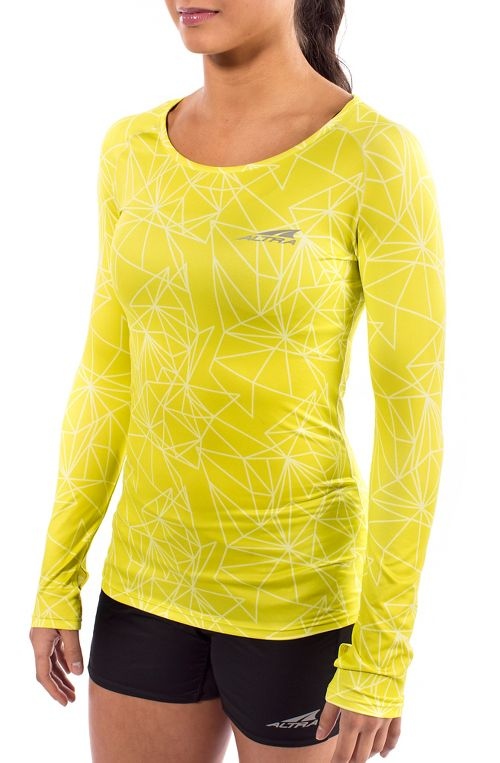 Womens Altra Running Long Sleeve Technical Tops - Lime XS