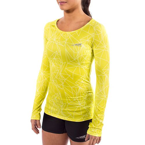 Womens Altra Running Long Sleeve Technical Tops - Lime M