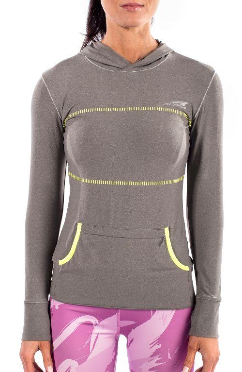 Womens Altra Performance Half-Zips & Hoodies Technical Tops - Grey M