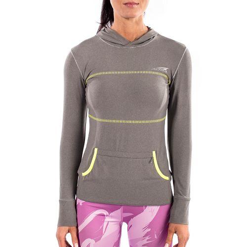 Womens Altra Performance Half-Zips & Hoodies Technical Tops - Grey XS