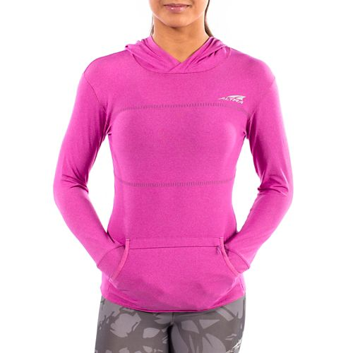 Womens Altra Performance Half-Zips & Hoodies Technical Tops - Orchid XS