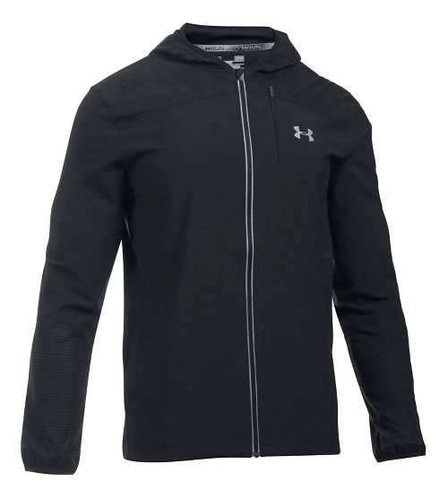 Mens Under Armour Storm Printed Running Jackets - Black M