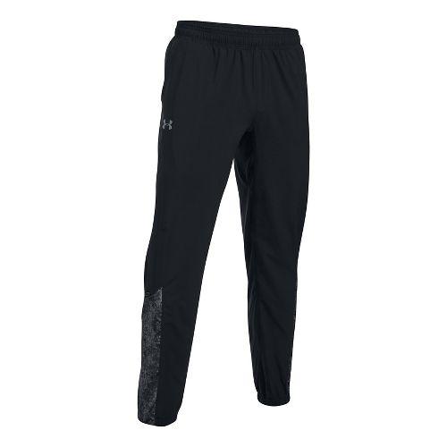 Mens Under Armour Storm Printed Pants - Black/Reflective L