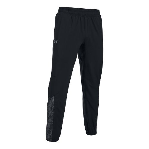 Mens Under Armour Storm Printed Pants - Black/Reflective M