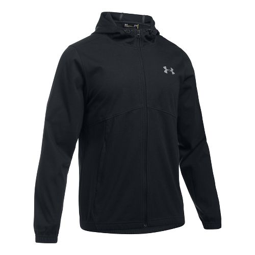 Mens Under Armour Spring Swacket Full Zip Running Jackets - Black 3XL