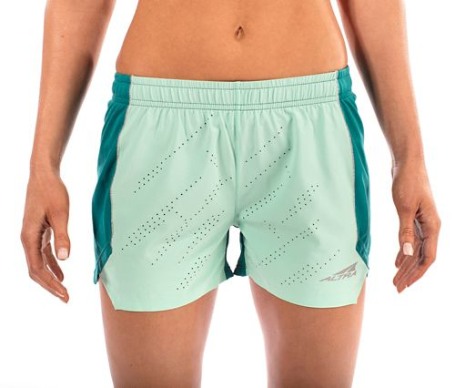 Womens Altra Running Unlined Shorts - Teal M
