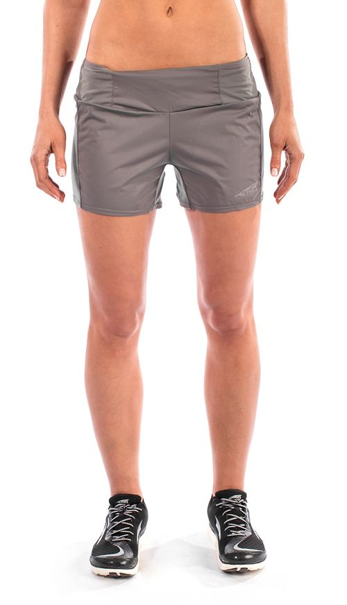Womens Altra Trail Unlined Shorts - Grey S