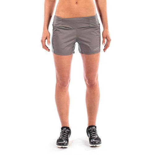 Womens Altra Trail Unlined Shorts - Grey L