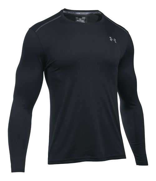 Mens Under Armour Coolswitch Run V2 Long Sleeve Technical Tops - Black S
