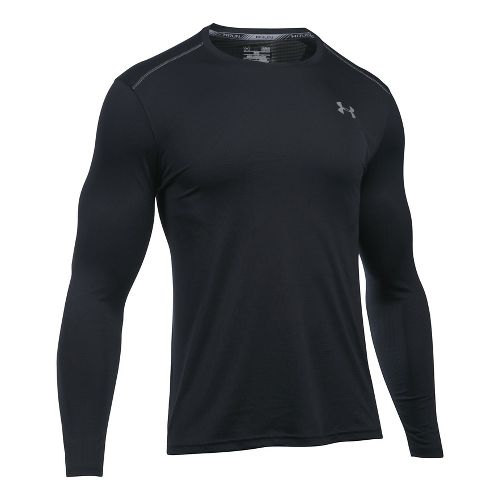 Mens Under Armour Coolswitch Run V2 Long Sleeve Technical Tops - Black 3XL